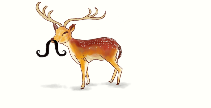 Muro Challenge - Eve's Moustached Raindeer by TheGalleryOfEve