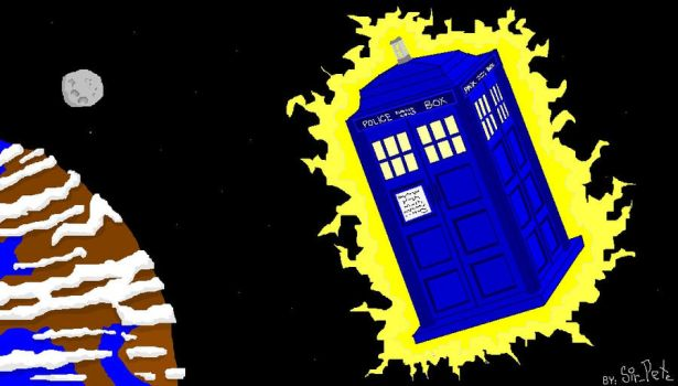 Tardis in MSpaint by SirPete