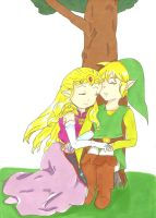 Zelda and Link by Yotsureneko