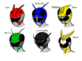 Power Rangers: Insect Squad/ Konchuger Sentai by QZARLOID