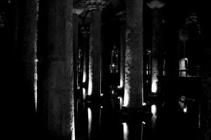 Cistern. Monochrome. by johnwaymont