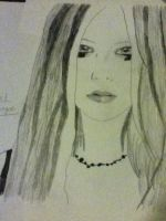 Avril Lavigne Drawing #2 by jt0002