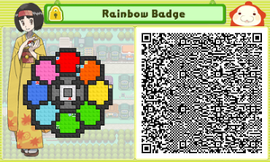 Pushmo Pokemon League! Rainbow Badge by SrgtToasty