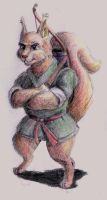Redwall squirrel by DekabristMouse