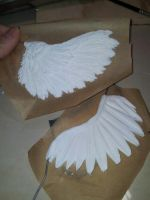 Fairytasia OOAK Angel Wings WIP by fairytasia