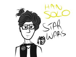 Hipster Han Solo by MostlyHandDrawn