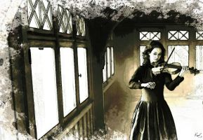 Painting Hilary Hahn by kawl4sure