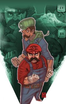 mario and luigi by biggistyle