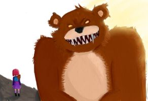 Tibbers and Annie by LordDoublesword