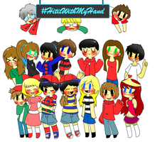 #HitItWithMyHand Christmas group picture by Ask-Ninten