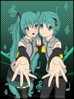 Hatsune Brothers :Color: by Sakura1885