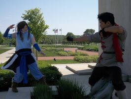 Legend of Korra: A Little Sparring Session by Deckronomicon
