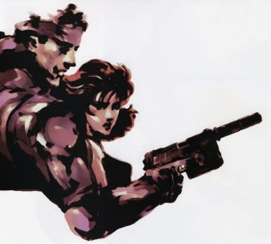 Snake And Meryl by AceDemonHunter