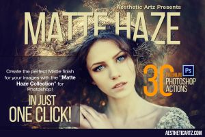 Premium Matte Haze Photoshop Actions by AestheticArtz