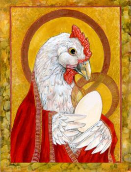 Madonna And Egg by ursulav