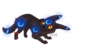 lunar the shiny umbreon by ShelbySnowstorm