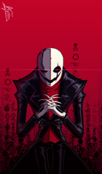 Underfell Gaster by Ayraa