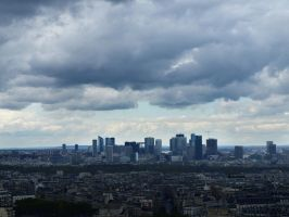 La Defense under dark clouds by Miss-Nefer-Stock