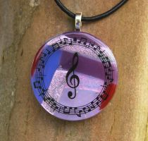 Musical Collage Glass by FusedElegance