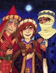 Winter Holiday Art 2015 - The 3 Magi by ThumbJr