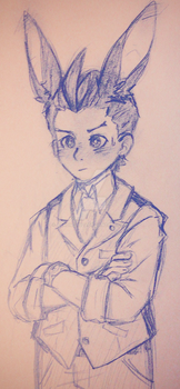 Sketch: Bunny Apollo by Aaronchu29
