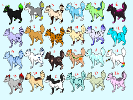 2 points canine adoptable batch by RippedMoon