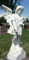 Mount Olivet Cemetery Angel 195 by Falln-Stock