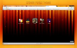 Orange Pixels for Chrome by BenSow