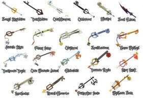 Kingdom Hearts Keyblades by WeapondesignerDawe