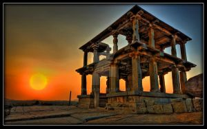 Sunset Hemkuntha Hill, Hampi by mukulb