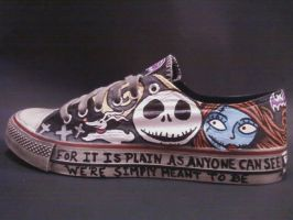 JACK AND SALLY HANDPAINTED SHOES by rachelliles352