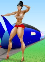 Velomobile for 2 and model by MuscleWomen-Planet