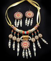 Tauren necklace + earrings set by oione