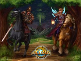 - Allods Horseriders wallpaper - by Rai-che