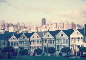 Alamo Square - San Francisco by ElePetitePeste