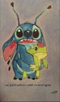 Stitch and Frog- Aloha O`e (Farewell to Thee) by Kitteh-the-Kat