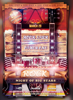 Rock Concert Flyer Template by mrwooo