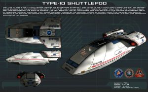 Type 10 Shuttlepod ortho [New] by unusualsuspex