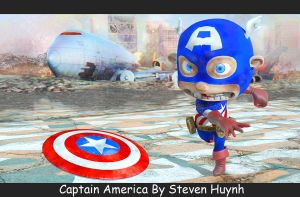 Chibi Captain America by iEvEtS