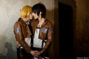 Eren And Armin Cosplay - Please Don't Leave Me by DakunCosplay