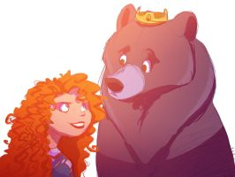 Merida and Elinor by Frozenspots