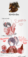 A.H Introduction Meme: Emma by DarknedStar
