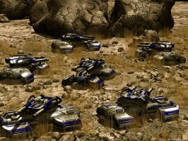 Tanks In The Desert by DXBigD