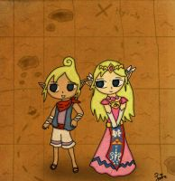 Tetra and Zelda by Jrynkows