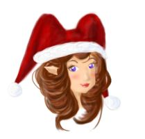 GaiaOnline: Christmas Sketch by featherfire520