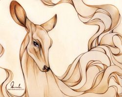 Dreamy Doe by kleinmeli