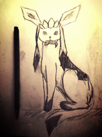 Glaceon Sketch - Fiddled With by Kisareshiram