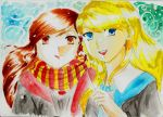 London and Maddie in Hogwarts by SonicPossible00