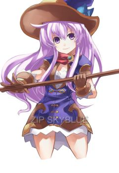 PURPLE MAGE by zipskyblue