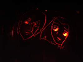 ZuRae themed Pumpkin Carving by touch-of-jade